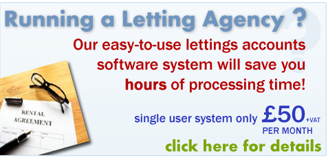 Powerful letting agency accounts package. Click for details